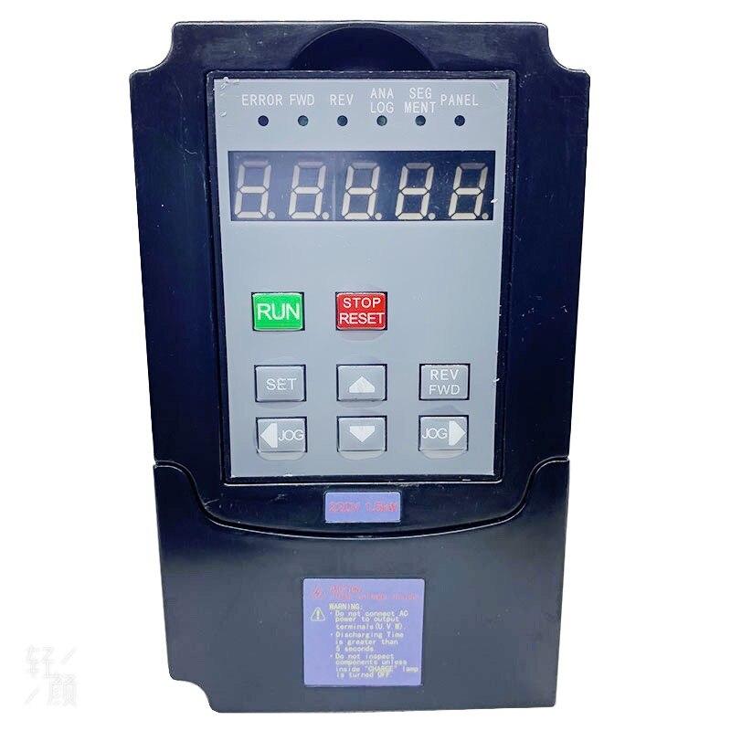 hot 7 5kw 11kw single phase inverter output 3 phase vfd frequency converter adjustable speed 220v nflixin 9600 3t 00750g VFD Single-phase three-phase 220V inverter output three-phase 220V fan inverter motor speed controller 1.5K Wac motor drive/ VFD