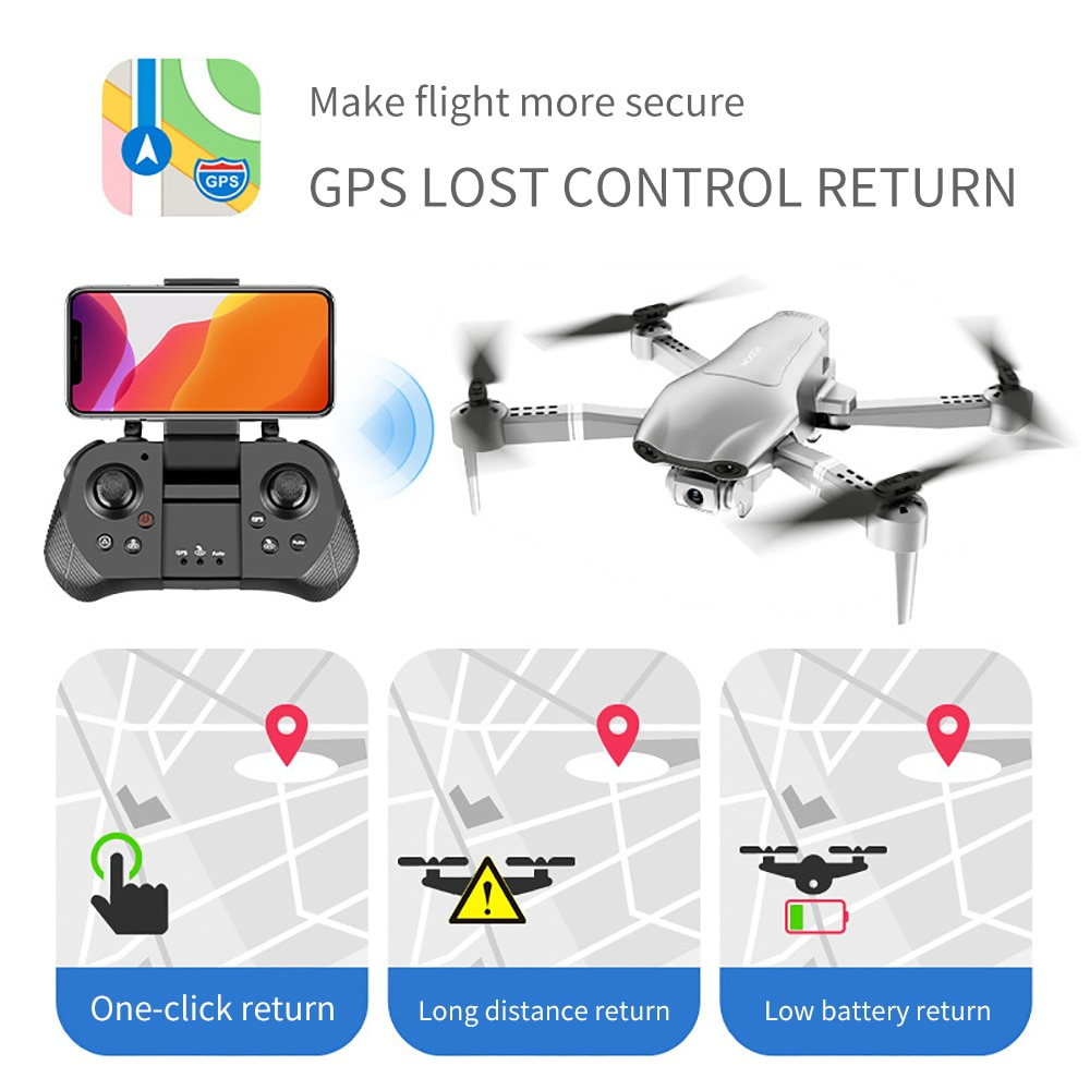 FITENK F3 Drone GPS 4K 5G WiFi Live Video FPV Quadrotor Flight 25 Minutes Rc Distance 500m Drone HD Wide-angle Dual Camera enlarge