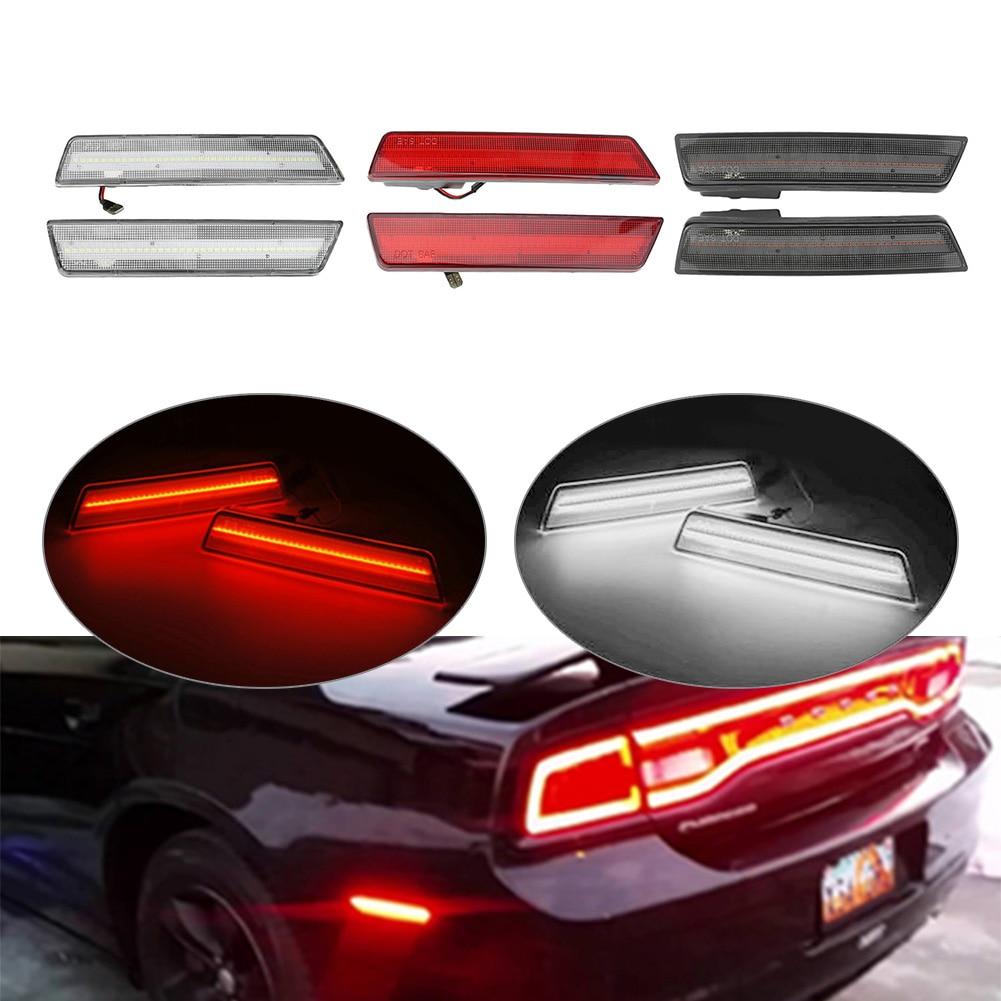 Автомобильные светодиодные задние боковые габаритные огни для Dodge Challenger 2008 2009 2010 2012 2013 2014 и зарядное устройство 2011 2012 2013 2014 сигнальная лампа