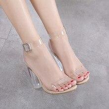 Sexy transparent talons hauts pompes femmes chaussures dames chaussures de fête femme à talons hauts chaussures de mariage talon femme fgb56