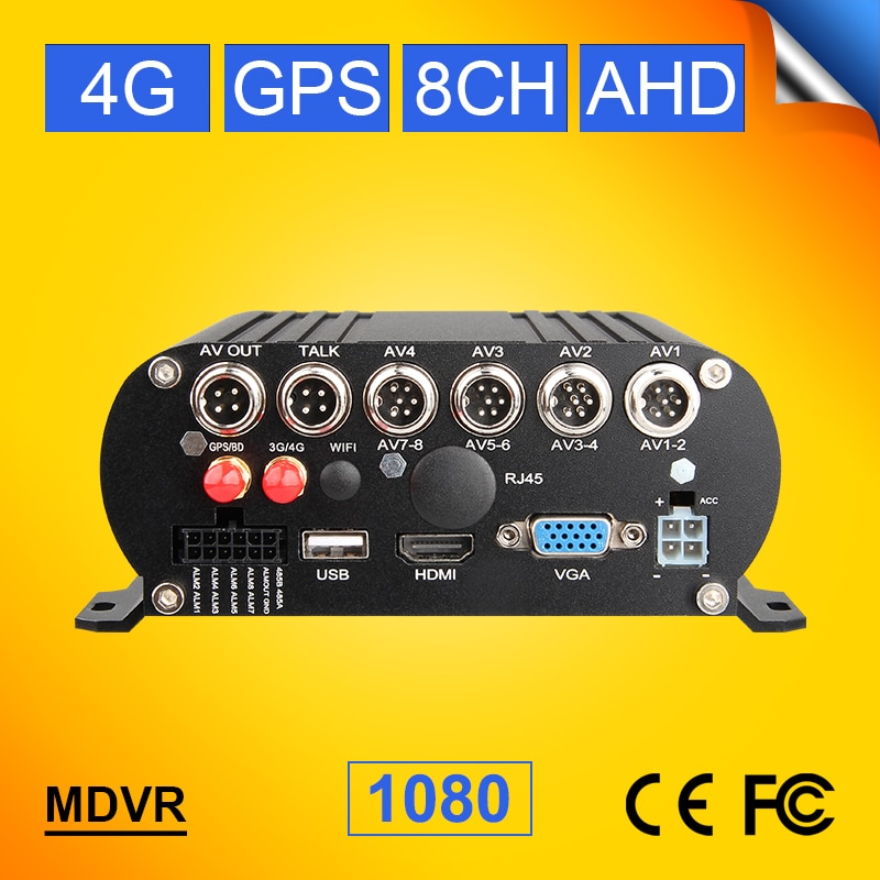 4G+GPS HDD AHD Mobile Dvr 8CH 1080 Bus/Truck Vehicle Dvr Real Time Live Watching Car Mdvr Software F