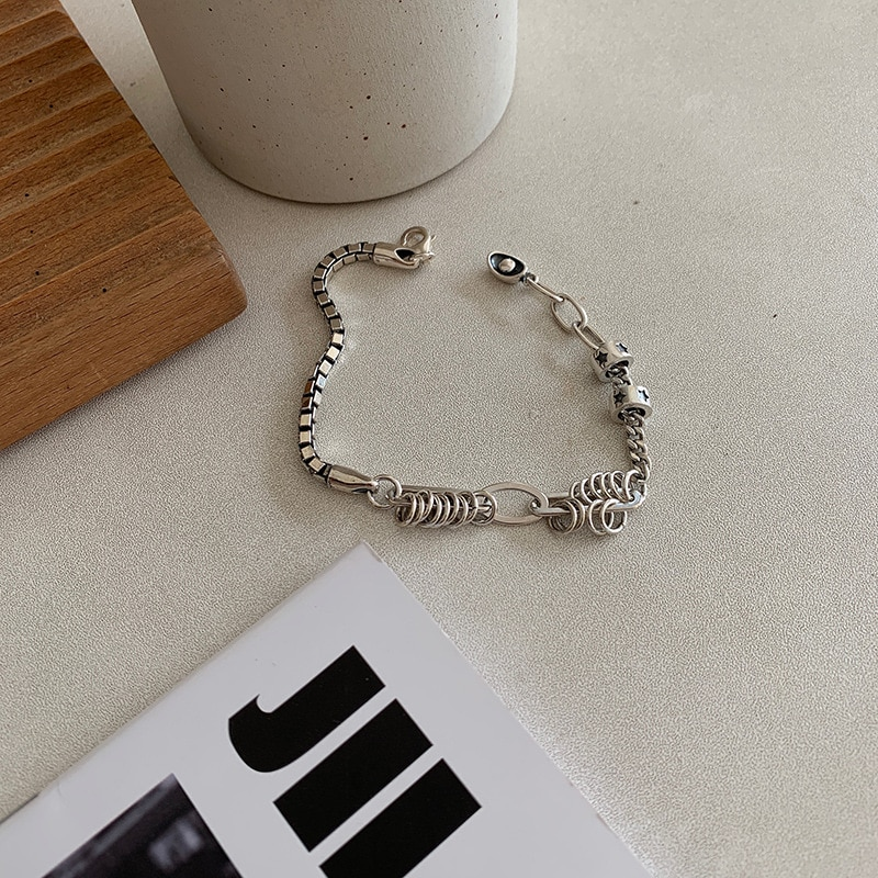 Vintage Distressed Love Heart Bracelet Female Unique Design Smile Round Brand Retro Simple Jewelry Gift luxury  - buy with discount