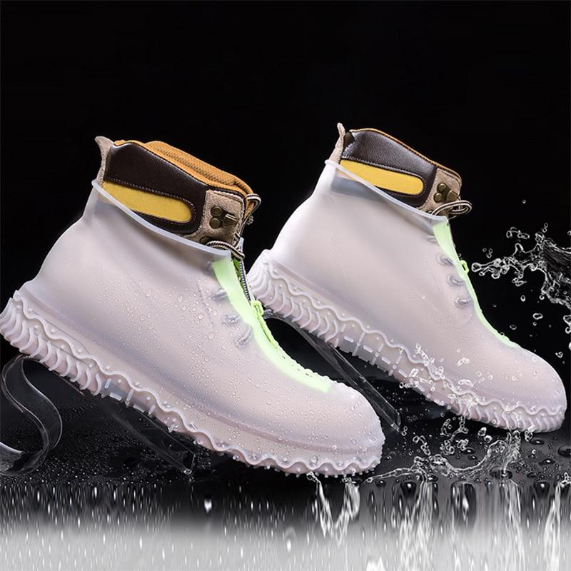 أغطية أحذية مقاومة للماء للرجال والنساء ، أغطية أحذية من السيليكون قابلة لإعادة الاستخدام مع سحاب ، أغطية أحذية مطاطية للجنسين ، أغطية أحذية...