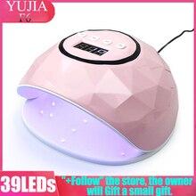 2020 lámpara UV para manicura 86W 39 luz LED secado de Gel de uñas luz curado todo Gel pulido UV USB Smart Timing Nail Art herramientas