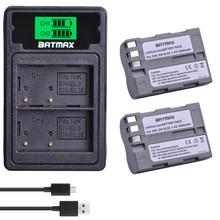 Batmax EN-EL3e pl EL3e bateria + LCD podwójna ładowarka z portu typu C do aparatu Nikon D30 D50 D70 D70S D90 D80 D100 D200 D300