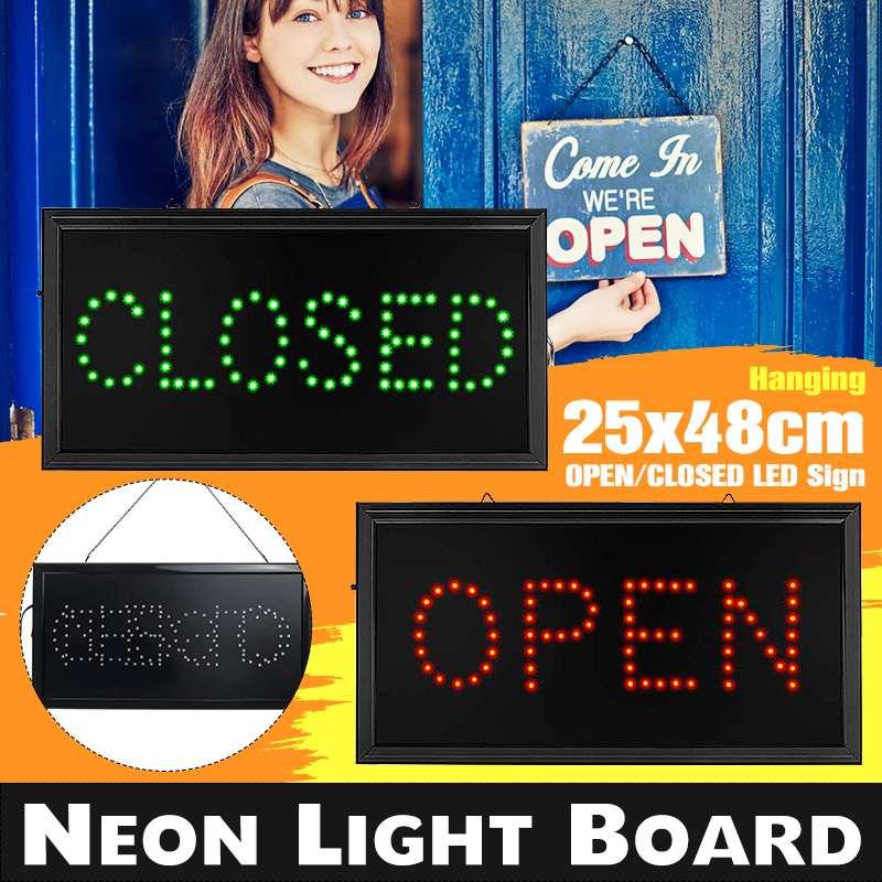 LED تسجيل أضواء مخزن فتح مغلقة ضوء LED نيون وامض مصباح لرجال الأعمال بار مصابيح إضاءة النوادي الليلية مجلس مصابيح تعليق للزينة