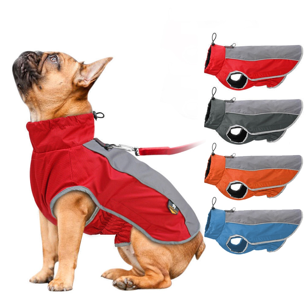 Одежда для собак, водонепроницаемая одежда для больших собак, осенне-зимние теплые куртки для больших собак, спортивный жилет для улицы