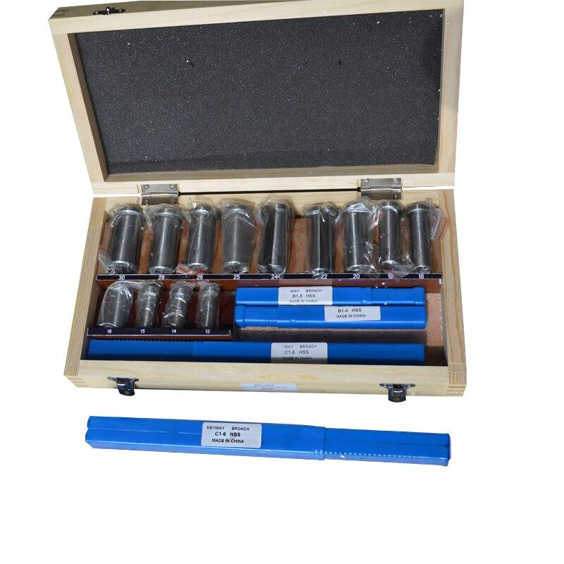 مجموعة من 22 قطعة من مسامير ثقب مفتاح Hss ، مجموعة جلبة الرقاقة ، نظام متري 12-30 HSS ، أداة Keyway ، سكين لآلة CNC