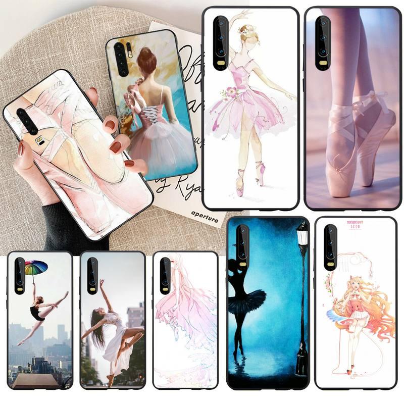 PENGHUWAN Ballerina Dance Ballet Girl Shoes DIY Printing Phone Case cover Shell for Huawei P30 P20 P10 P9 P8 Mate 20 10 Pro Lite