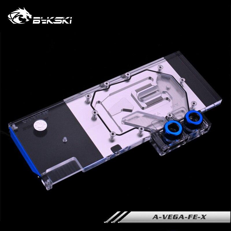 Bykski وحدة معالجة الرسومات كتلة ل AMD راديون فيغا فرونتير الطبعة/AMD راديون RX فيغا 64 تبريد المياه برودة رئيس ، A-VEGA-FE-X