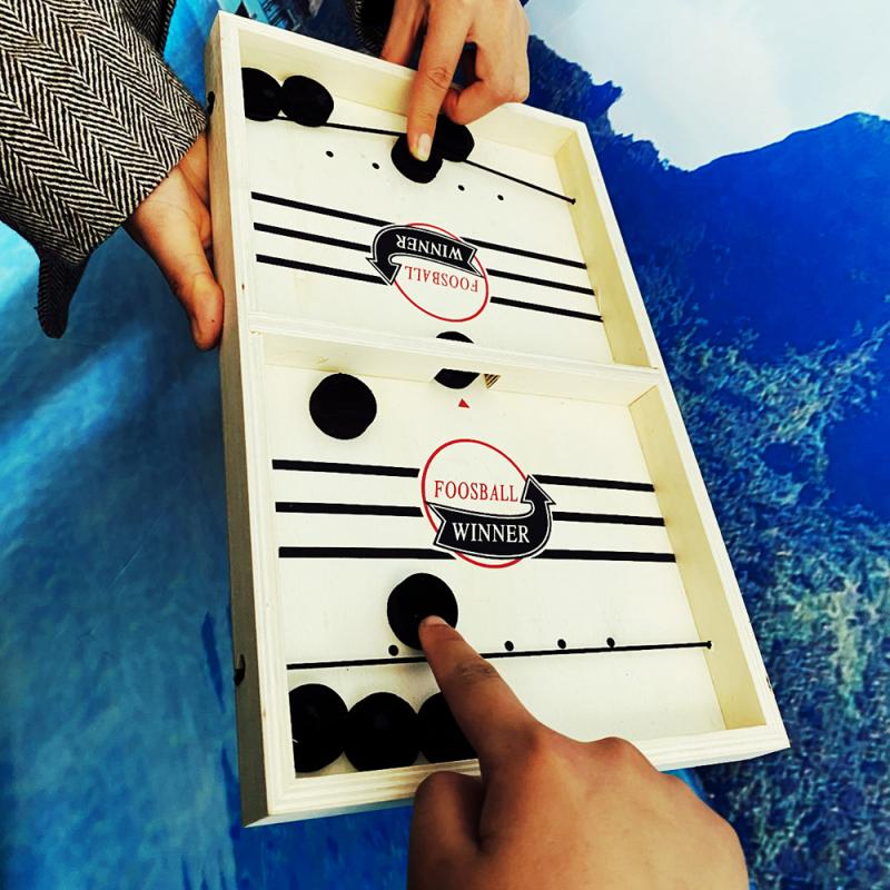 2020 New Game Slingpuck Montessori Toys Board For  Free Shipping Parent-child Interactive Chessboard Foosball Game Toy