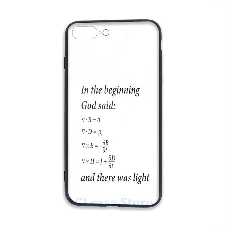 Deus disse maxwell equações caso de telefone para iphone 12 pro 11 x xr xs max 8 7 6s plus 5S tpu vidro macio capa traseira