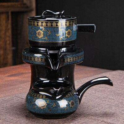 كسول شبه التلقائي تيسيت الكونغ فو ماكينة إعداد الشاي مكافحة السمط المنزل حجر مطحنة إبريق الشاي السيراميك وعاء واحد معرض كأس teبينة