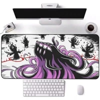 led light game player pc mouse pad anime monster rgb mousepad computer equipment keyboard ordinary carpet pads large desk mat