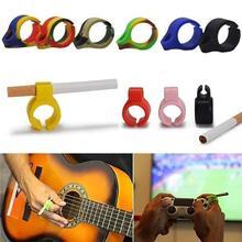 Hot Sale Creative Artifact Silicone Holder Ring Rack for Regular Smoking smoker guitarist Cigarettes Accessories