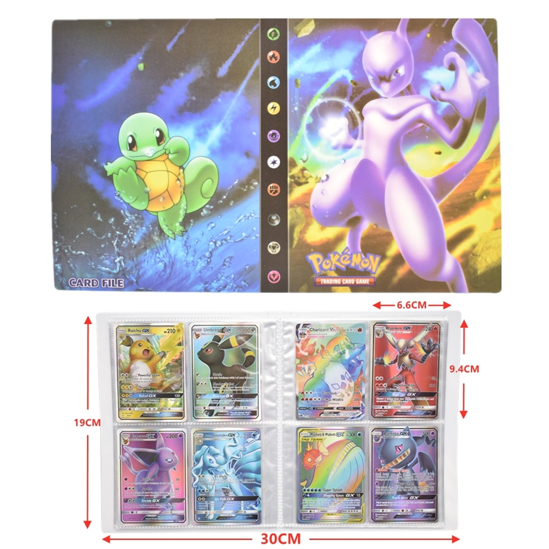 album pokemon 240 pecas livro de desenho animado cartao de mapa pasta de jogos