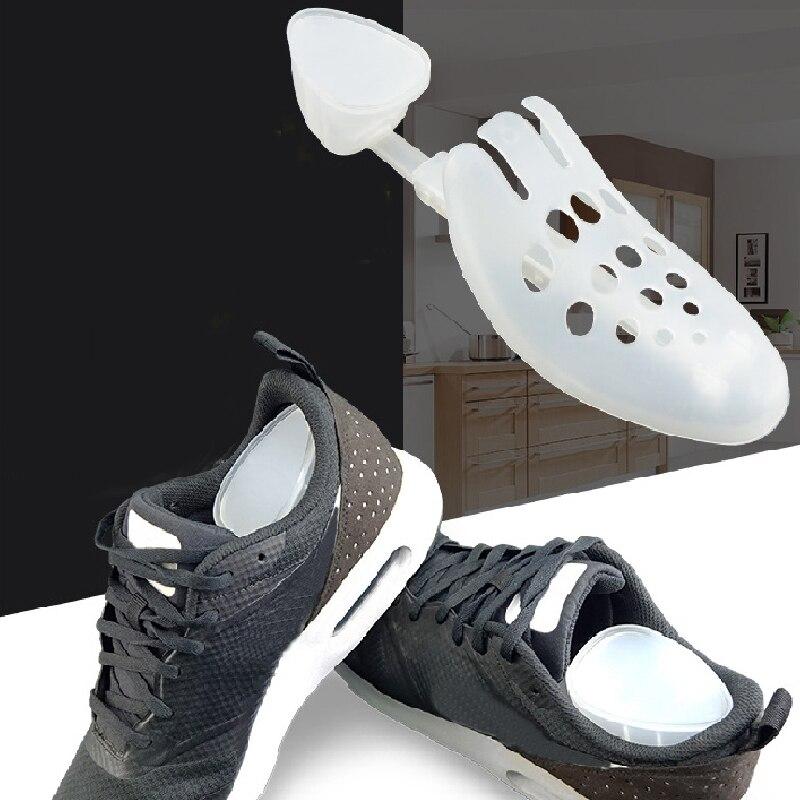 2 pçs ajustável masculino feminino sapato de plástico maca durável preto sapatos titular para botas expansor sapato extensor suporte keeper