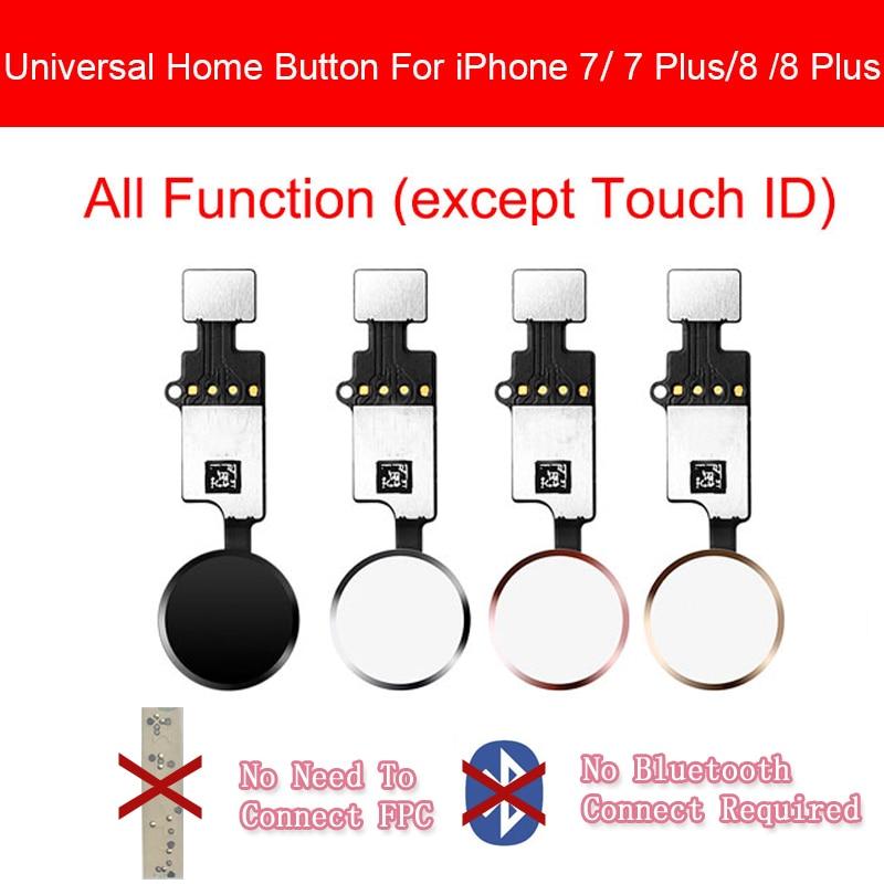 Cable flexible de botón de inicio Universal para iphone 7/7 plus/8/8 plus Botón de retorno trasero sin identificación táctil de huella digital función