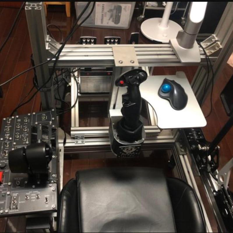For Thrustmaster Hotas X56 VKB Simulator Flight Joystick Keyboard and Mouse Kit Mounting Bracket Thickened Metal Desktop Tray enlarge