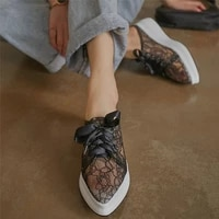 punk creepers women breathable mesh wedges high heel gladiator sandals female summer pointed toe fashion sneakers casual shoes