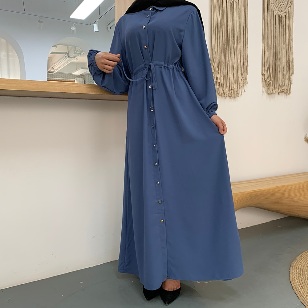 فستان قفطان صيفي للسيدات المسلمات ، حجاب ، أزياء دبي ، تركيا ، ملابس إسلامية ، Ete