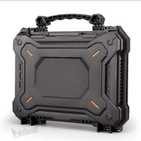 outdoor gun pistol camera protective case safety carry tactical hunting handgun case box waterproof hard shell with foam padded