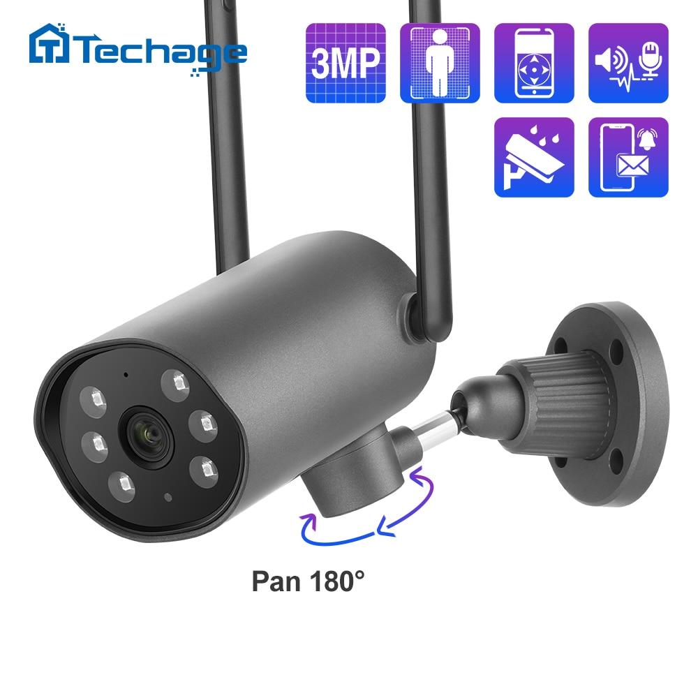Techage 3MP كاميرا IP لاسلكية عموم إمالة داخلي اتجاهين الصوت CCTV واي فاي كاميرا 1080P مراقبة الطفل مراقبة الأمن الفيديو