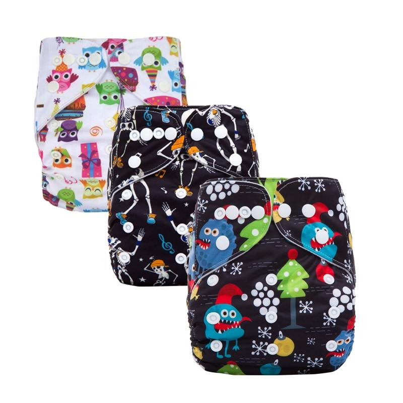 Pañales de algodón para bebé, pañal de tela lavable para bebé, cubierta para pañales de bebé a prueba de agua, pañales de tela reutilizables, serie X