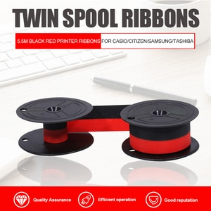 GR24 Twin Spool Ribbons For Typewriters 5.5M Black Color Red Color Printer Ribbons For CASIO/CITIZEN/SAMSUNG/TASHIBA