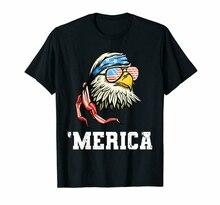 Preto 4th de julho merica patriótico eua bandeira águia careca camiseta algodão mais tamanho camiseta