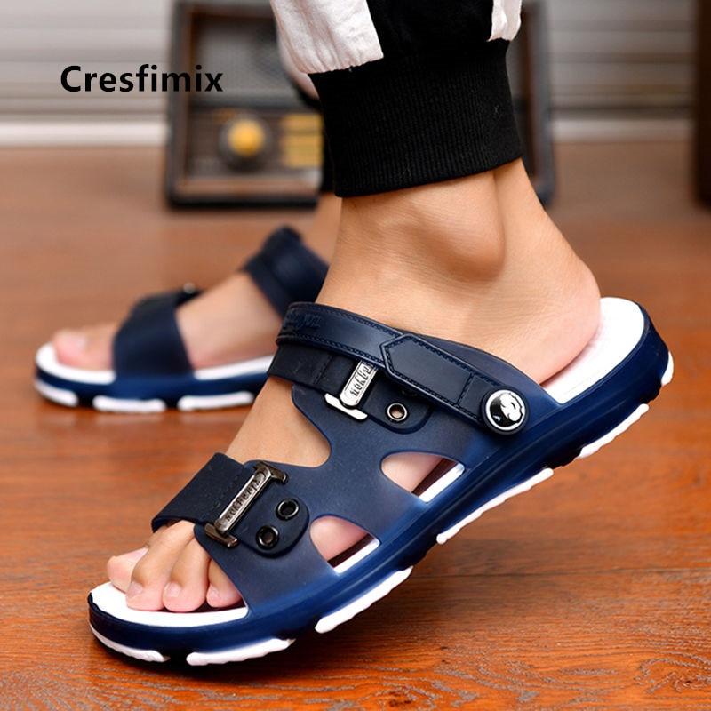 Male Fashion High Quality Plus Size Home & Beach Sandals Men Casual Durable Anti Skid Peep Toe Summer Sandals Sandalias A5756