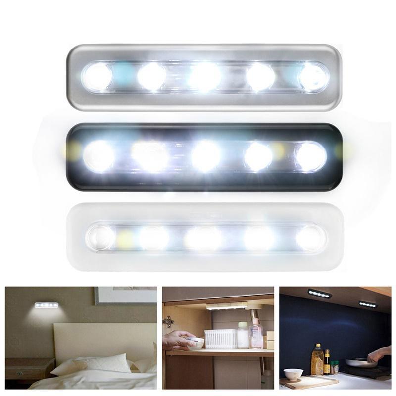 Mini 5 LED Luz de armario con pegatina adhesiva lámpara para cocina dormitorio armario cajón armario iluminación