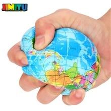 Jimitu Grappige 63Mm Stress Relief World Map Foam Bal Atlas Globe Palm Squeeze Bal Planeet Aarde Grappige Antistress Bal