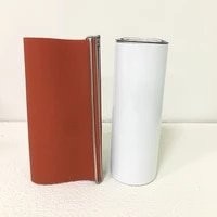 diy silicone shrink wraps heat transfer for 20oz whte blank sublimation straight skinny tumblers printing creative