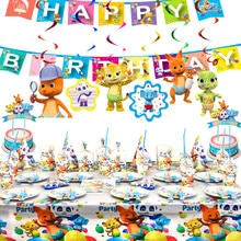 Hot Word Party Theme Birthday Party Decoration Tableware Set Cartoon Animals Paper Cup Plate Baby Sh