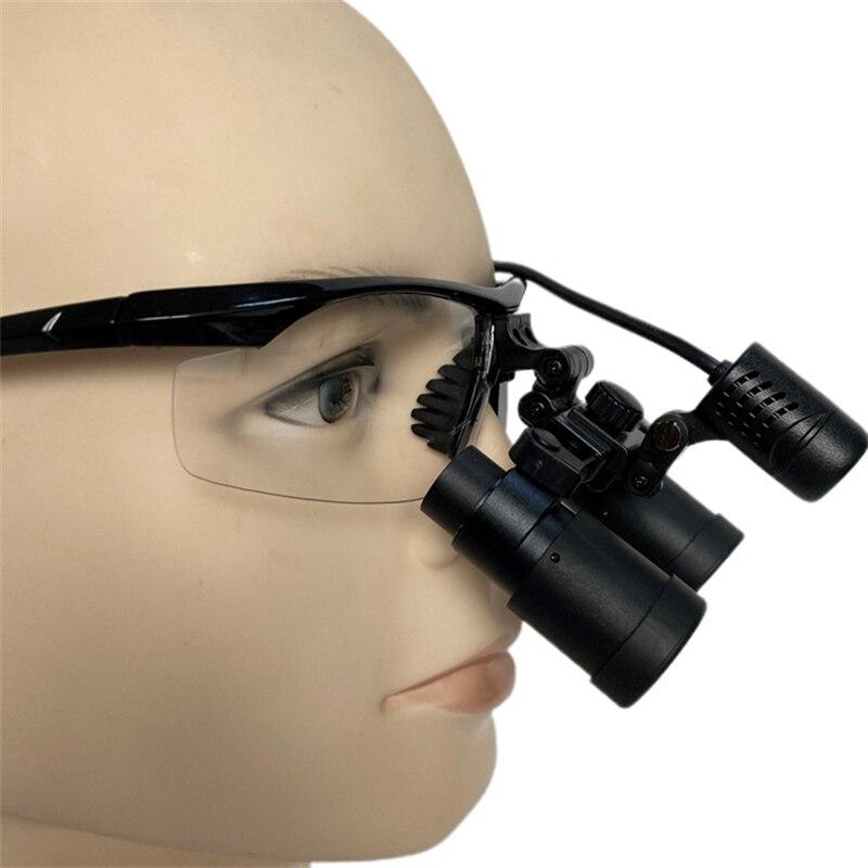 بريزم الطبية الجراحية الأسنان 4.0X كبلر مجهر المكبر Loupes ENT الأسنان العيون مع مصباح LED (FDJ-X-4.0X)
