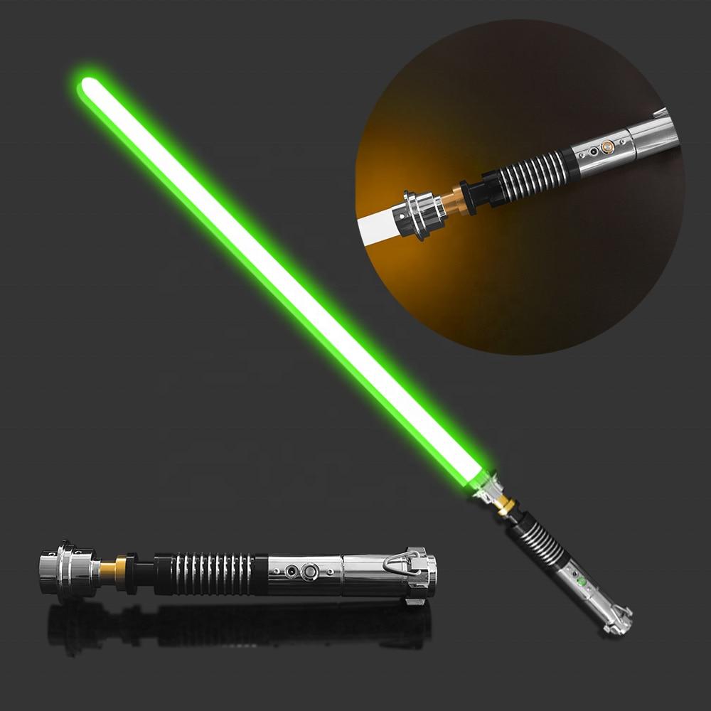 YDD Metal Hilt Single Color FOC Blaster Lightsaber High Quality Dueling Light Saber For Luke Skywalker Red And Green Light Sword