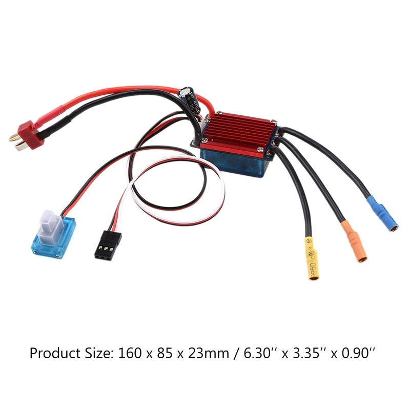 25A ESC Brushless Electronic Speed Control Motor 2S 3S for 1/14 1/16 RC Car Toys enlarge
