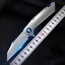 En iyi cep katlama bıçak D2 çelik bıçak çelik saplı malzeme avcılık kamp bıçağı hayatta kalma günlük taşıma anahtarlık bıçak