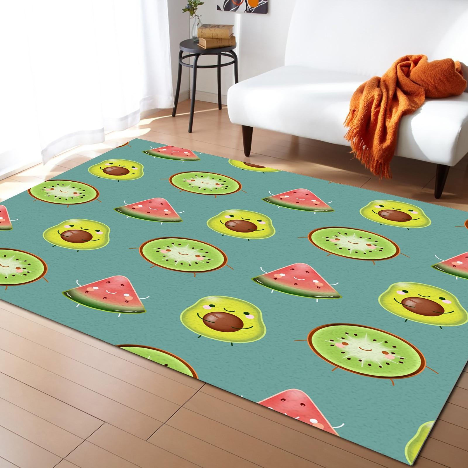 Kawaii الفواكه السجاد لغرفة المعيشة غرفة نوم الاطفال السرير السجاد لينة السجاد أريكة المنزل ديكور للطاولات حصيرة