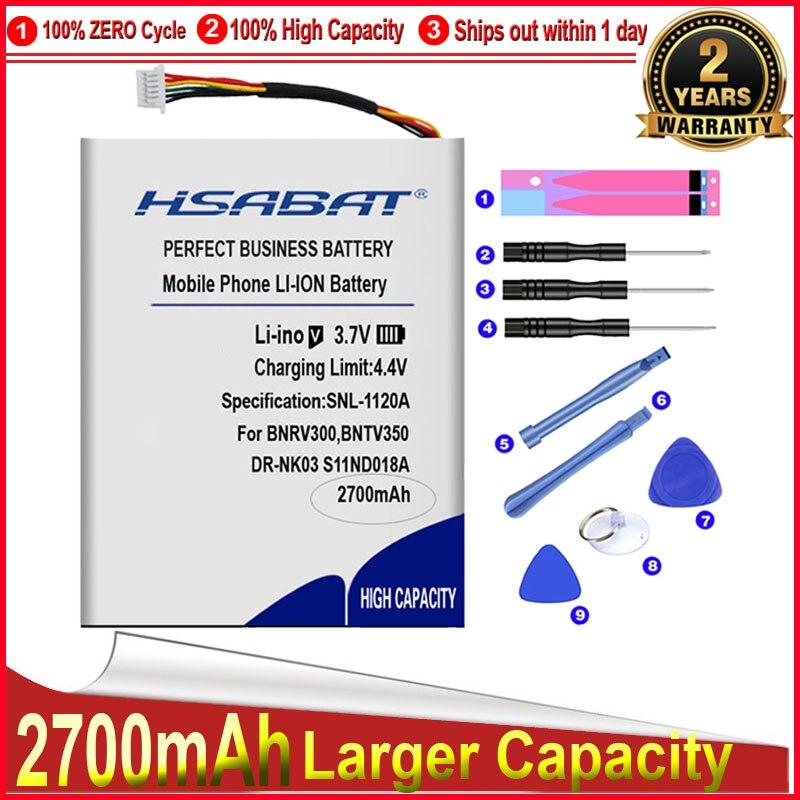 """Batería de ciclo 0 de 2700mAh de HSABAT, DR-NK03 MLP305787 S11ND018A para barnices & Noble BNRV300,BNTV350,Nook Simple Touch, Simple 6"""""""