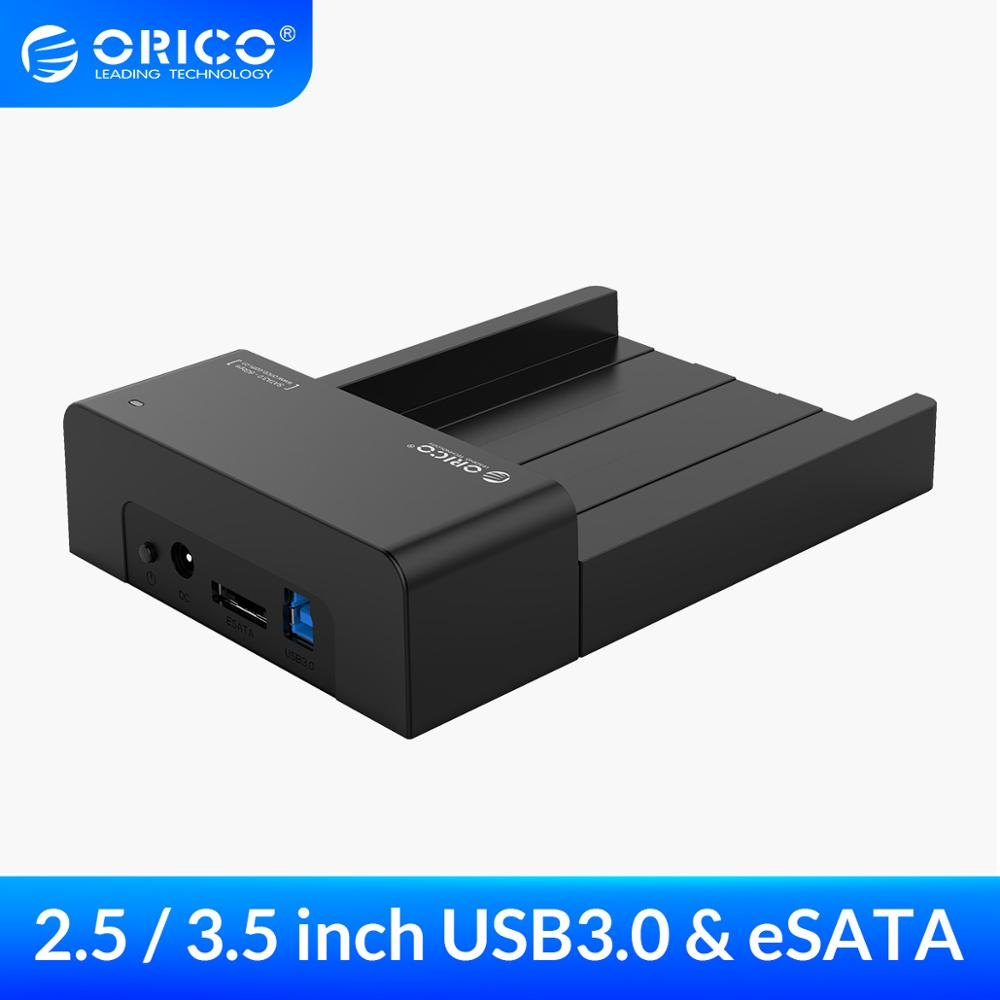 ORICO 2.5 3.5inch HDD Caddy Tool-Free SATA to USB Type B ESATA External SSD Enclosure up to 16TB HDD Docking Station for Laptop
