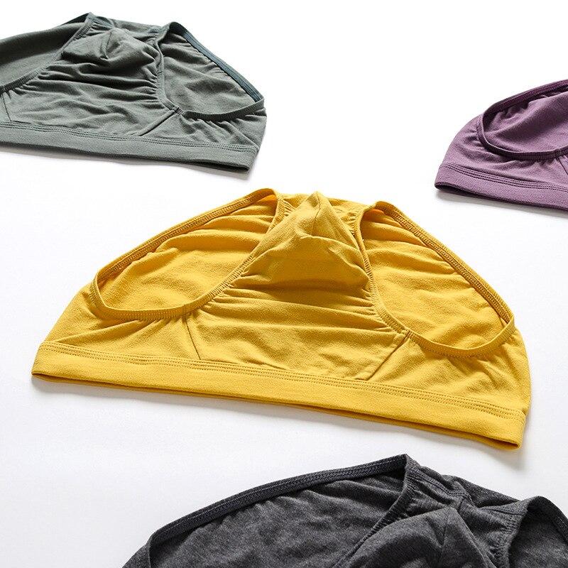 Autumn 2020 cotton men underwear solid simple male briefs