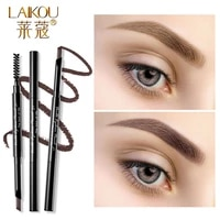 double head lock color automatic eyebrow pencil natural long lasting easy to wear makeup waterproof eyebrow tattoo pen cosmetic