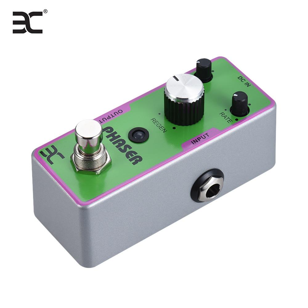 ENO EX TC-42 guitarra eléctrica fáser Fase del Pedal del efecto carcasa totalmente de Metal Bypass verdadero