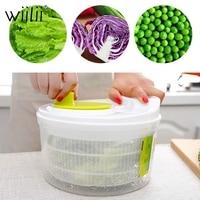 Wiilii Salad Spinner Lettuce Greens Washer Dryer Drainer Crisper Strainer For Washing Drying Leafy Vegetables Kitchen Tools