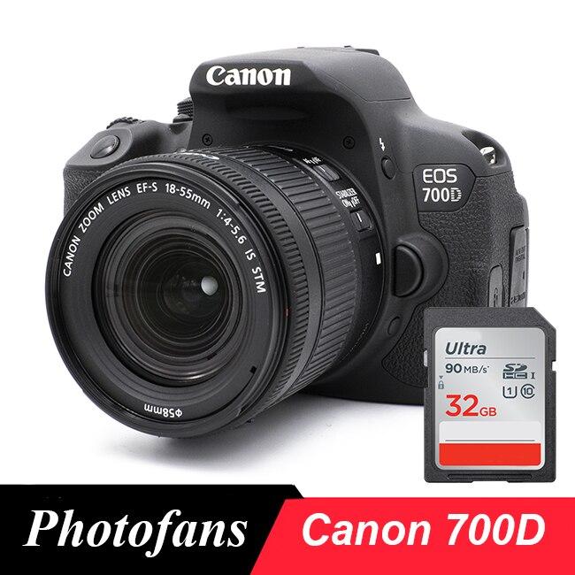 Canon-cámara Digital 700D / Rebel T5i DSLR, con lente de 18-55mm, 18...
