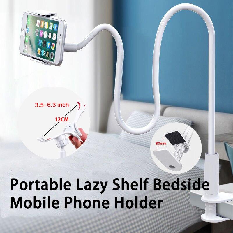 Soporte para teléfono móvil con Clip 360, Base de escritorio Flexible y portátil, 75cm