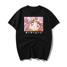 Sailor Moon Summer Fashion T Shirt Men Print Ulzzang Fall In Love Short Sleeve T-Shirt 2019 New Casual Harajuku Hip Hop Tshirt