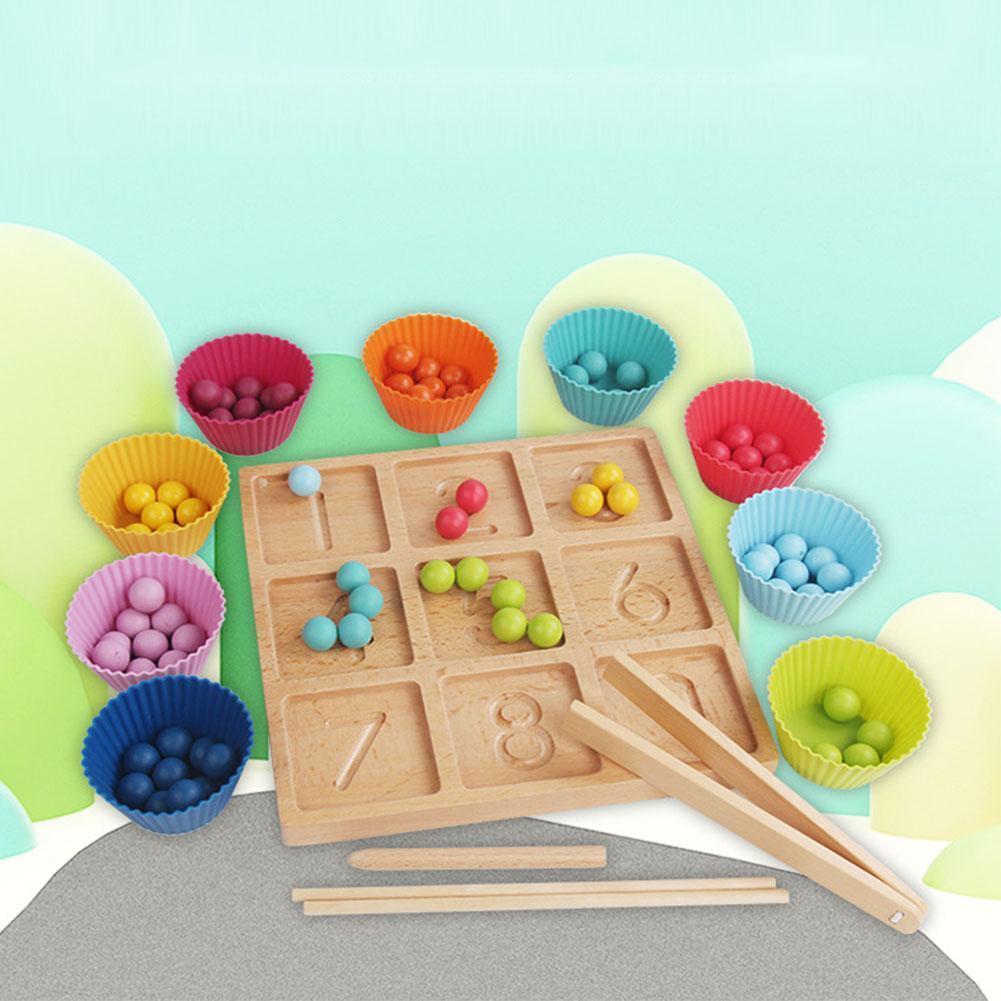 Доска для раннего обучения по методу Монтессори, доска для рисования, деревянная доска для рисования, детская игра, бусины, доска для обучен... доска для рисования детская quercetti для обучения математике и рисования 5323